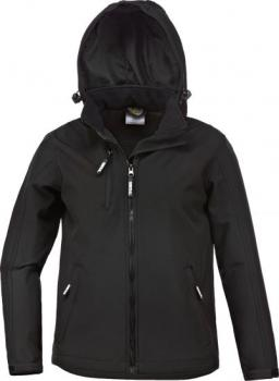 Kinder Softstshelljacke Power schwarz