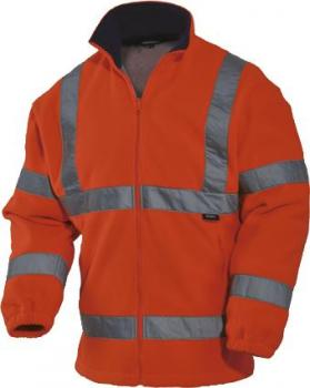 VIZWELL Warnschutz-Fleecejacke orange