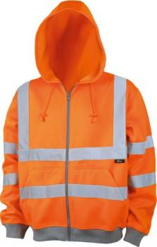 orange Kapuzenjacke