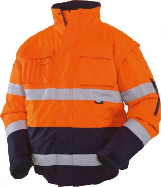 VIZWELL 2in1 Warnschutzpilotenjacke orange-marine